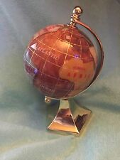 "6"" Tall Gemstone Globe / use as a paperweight too NEW IN ORIGINAL BOX"