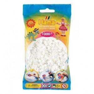 Hama 207-01 - Confezione  perline da stirare  color bianco 1.000 pezzi
