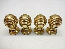 4 X Cast Brass Beehive Door Or Drawer Handles Cupboard Pull Cabinet Knobs