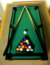 "SPORT DESIGN,PROFESSIONAL QUALITY,27"" WOOD TABLETOP BILLIARDS,POOL TABLE SET,NEW"