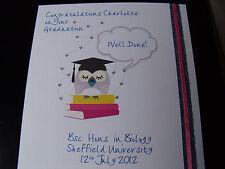 Luxury Handmade Personalised Congradulations on Your Graduation/Graduating Card