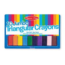 Melissa And Doug 10 Jumbo Triangular Crayons Set NEW Toys Crafts And Arts