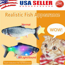 Electronic Pet Cat USB Charging Catnip Simulation Dog Jumping Flippity Fish Toy
