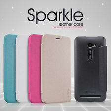 Nillkin Sparkle Matte PU Leather Wallet Case Cover For Asus Zenfone 2 (ZE500CL)
