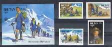Bhutan postfris 1982 MNH 776-779 blok 90 - Scouting (S1808)