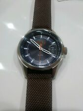HUGO BOSS HONG KONG SPORT  Casual Men's Brown Nylon Leather Watch 1550002 46mm