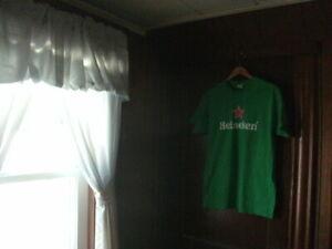 Heineken green Short Sleeve T Shirt size large GILDAN 100% heavy cotton NEW! NEW