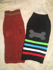 Dog Sweaters Size Medium & Large pair Turtleneck Dog Winter Clothing Pet Apparel