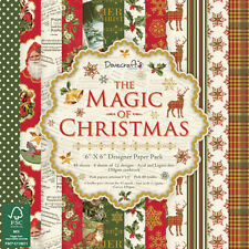 Dovecraft The Magic of Christmas SAMPLE 12 X 6 x 6 Paper Pack for cards & craft