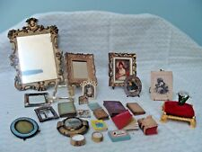 Miniature Books,Pictures, Assortment Doll House Items, Vintage