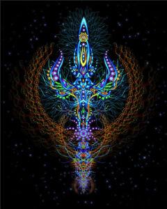 UV Backdrop Black Light Tapestry Psychedelic Art Banner Fluoro Psy Wall Hanging