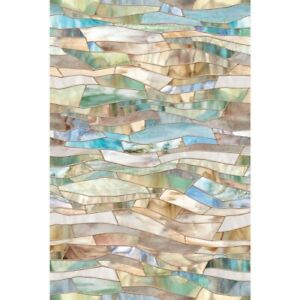 New 24x36 TERRAZZO Stained Glass Privacy Static Cling WINDOW FILM