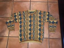 Vintage Mens Tundra 80s Colorful Tribal Sweater Sz M