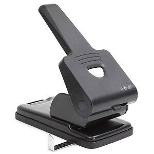 Rapesco Heavy Duty Hole Punch 65 Sheet Capacity- Metal Construction Black 865-P2