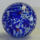 #12601m Huge 1.73 Inches German Handmade Single Pontil Onionskin Marble