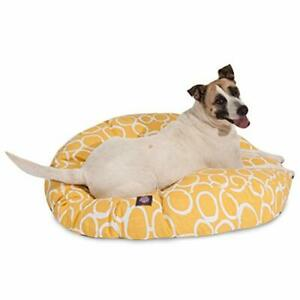 Majestic Pet Fusion Yellow Large Round Pet Bed
