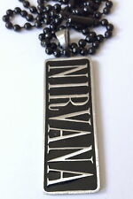 NIRVANA Punk Metal Rock Pendant Mens boys girls Black chain   BPC049 blk