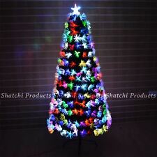 2ft Multicolour Lights Fiber Optic Pre-Lit Christmas Tree Home Decoration 60cm
