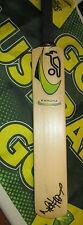 Mike Hussey (Australia) signed Green Kookaburra Kahuna Mini Cricket Bat + COA
