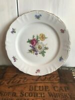 "Winterling Fine China Flower Garden Gold Trim Bavaria Germany 10"" Dinner Plate"