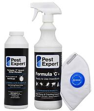 Pest Expert® Strong Bed Bug Killer Spray (1L) & Bed Bug Control Treatment Powder