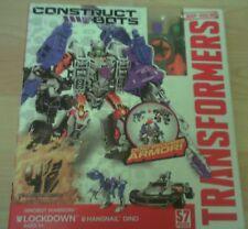 Transformers Lockdown Uñero Dinosaurio Armadura Constructor 2 en 1 RRP £ 23 6 años