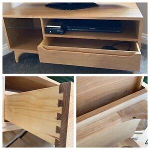 New Solid Walnut Eames Era Classic Retro Style TV Stand Unit Cabinet