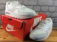 NIKE LADIES UK 5.5 EU 38.5 AIR MAX 90 LEATHER TRAINERS TRIPLE WHITE RRP £80 M