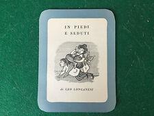 (R32) SEGNALIBRO ill. da Leo LONGANESI n.1 - IN PIEDI E SEDUTI (Anni '50)