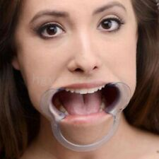 Restraint SM Games Clear Mouth Opener Oral Fixation Gag Bondage Open Mouth Gag