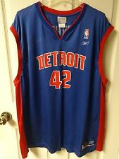 Reebok NBA Detroit Pistons Jerry Stackhouse # 42 Mens 2XL Basketball Jersey