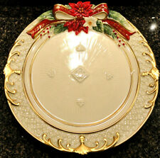 New ListingFitz & Floyd Cardinal Christmas Holiday Plate 2018 Design 49-759