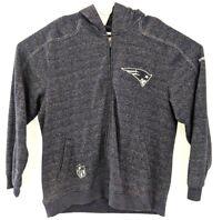 NFL New England Patriots Men's Front Zipper Hooded Sweatshirt Size Large