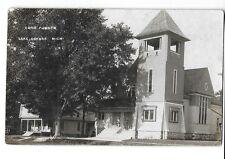 1909 Real Photo Postcard RPPC ~ Congregational Church ~ Lake Odessa, Michigan