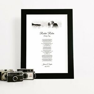 Personalised Song Lyrics Print Photo Sound Wave Anniversary Gift for Husband