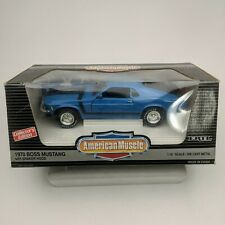 ERTL American Muscle 1970 Boss Mustang With Shaker Hood Blue MIB Collectors