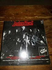 """JUDAS PRIEST signed autographed 12"""" vinyl single...ROB HALFORD,KK DOWNING + 2"""