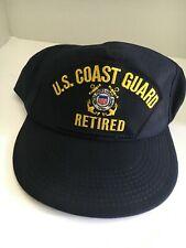 "U S Coast Guard Cap ""Us Coast Guard Retired """