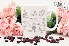 WEDDING PLANNING BIG DAY BRIDE TO BE COFFEE MUG TEA CUP ENGAGEMENT WEDDING GIFT