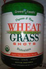 GREEN FOODS WHEAT GRASS SHOTS ORGANIC & RAW 5.3 oz