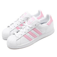 adidas Originals Superstar W White Pink Women Classic Casual Shoe Sneaker FU7444