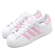 adidas Originals Superstar W White Pink Women Classic Casual Shoe Sneaker FU7444
