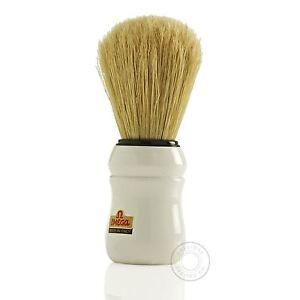 Omega 10049 49 Pure Boar Bristle Shaving Brush - White Handle