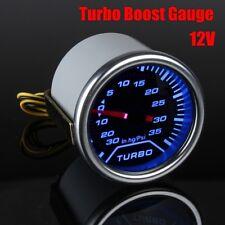 Universal Car 2'' Blue LED PSI Turbo Boost Gauge Pressure Vacuum Smoked Face US