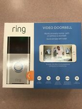 NEW Ring Satin Nickel Wireless Video Door Bell NEW