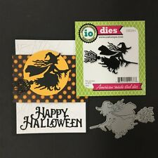 Flying Witch Halloween metal die - Impression Obsession cutting dies DIE229-i