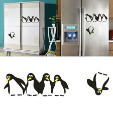 Stickers Mural Pingouin Autocollant Décor Réfrigérateur Cuisine Maison Enfant NF