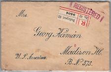 Gp Goldpath: Hungary Cover 1920 Registered Letter _Cv622_P12