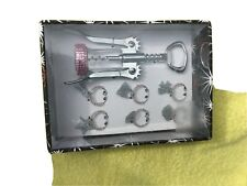 Wine Set - Corkscrew And Charms - New - 7 Pc. Set