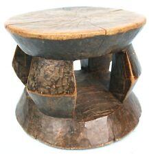 Art Africain - ANCIEN & USUEL - Tabouret Monoxyle AKAN - TOP Quality Item ++++++